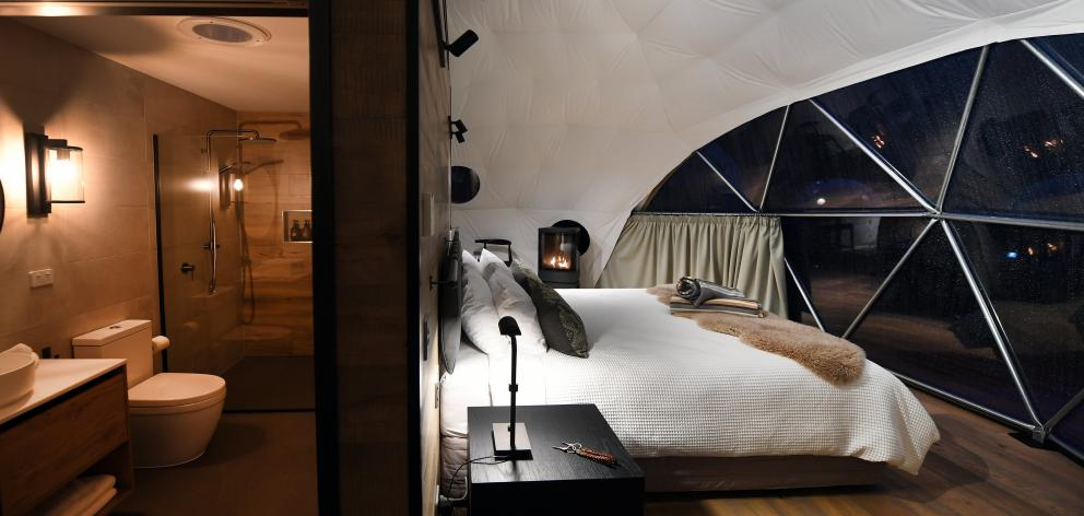 Inside one of the luxurious geo-domes.