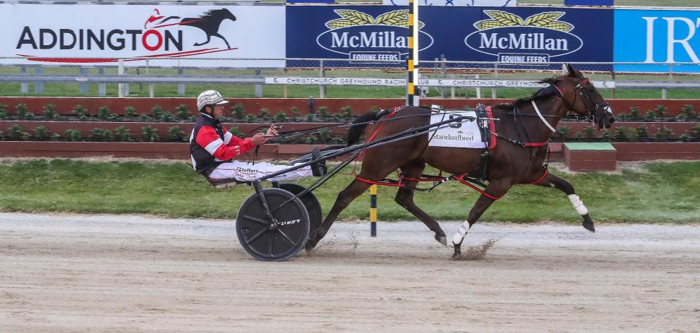 The Robert Dunn-trained Off N Gone won the $150,000 Listed NZB Standardbred Harness Million 3yo...