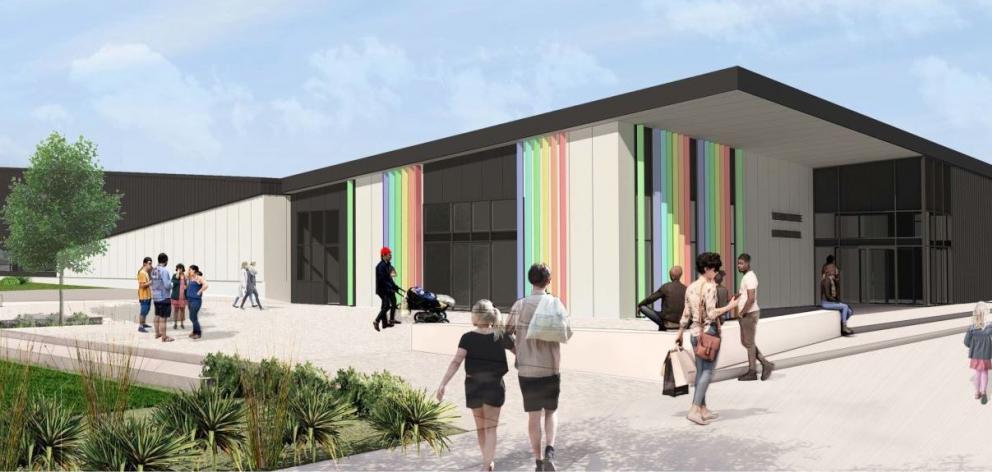 An artist's impression of the Te Pou Toe Toe: Linwood Pool. Image: Christchurch City Council