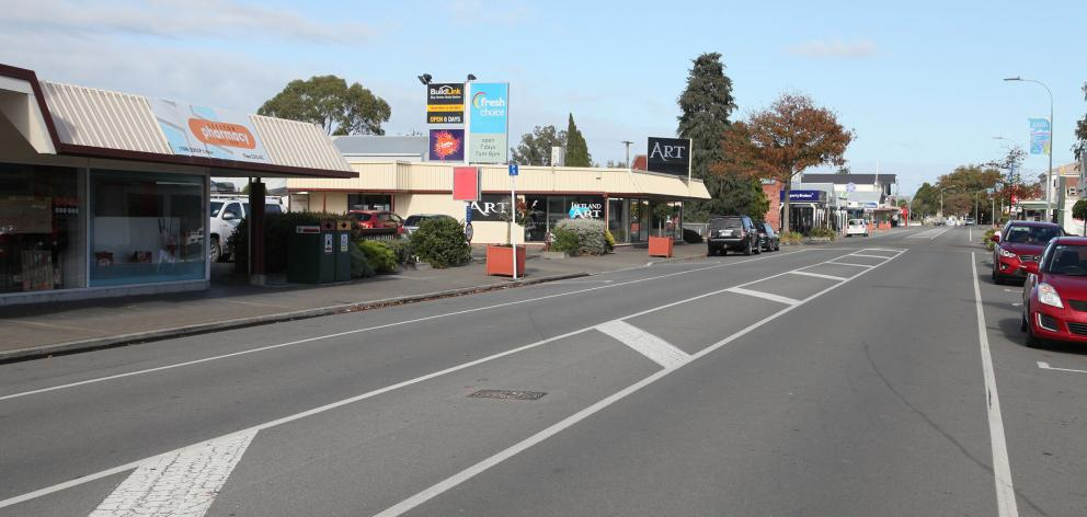 Leeston's High St is likely to see a lot more people as a result of new subdivisions. Photo:...