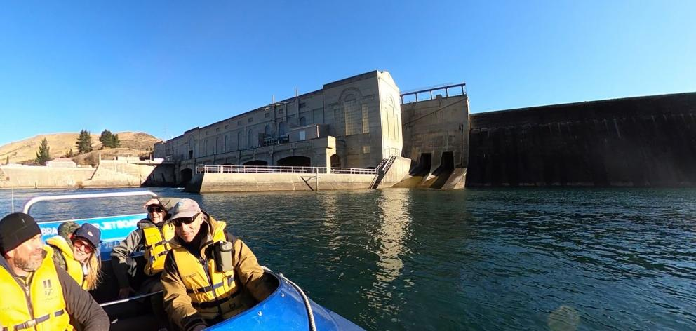 Braided River Jet Boating takes a spin to the Waitaki hydro station.