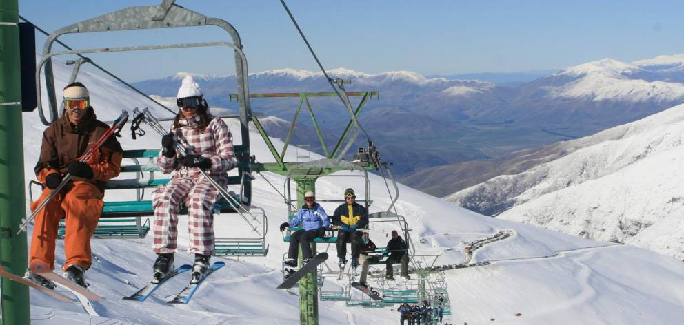 Canterbury ski field Mt Dobson had to turn visitors away by 10am yesterday. Photo: Supplied