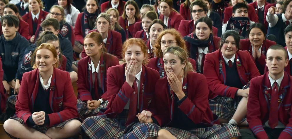 Watching a big screen nervously as fellow Kavanagh College pupil Erika Fairweather competes in...