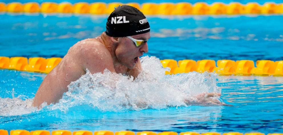 Lewis Clareburt qualified for the final of the 200m individual medley. Photo: Getty Images