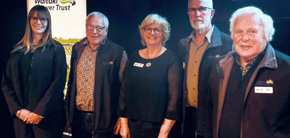 Celebrating Network Waitaki's strong 2021 financial results are Waitaki Power Trust trustees ...