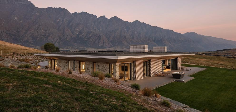 This Jacks Point home is clad in stone excavated from the building site.