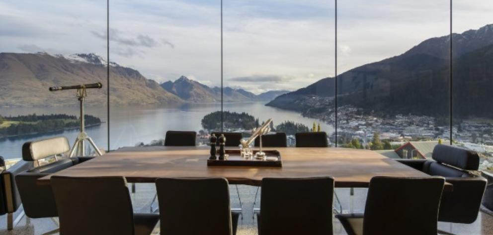 Prominent American billionaire Ptere Thiel's put his Queenstown home on the market. Photo: Supplied