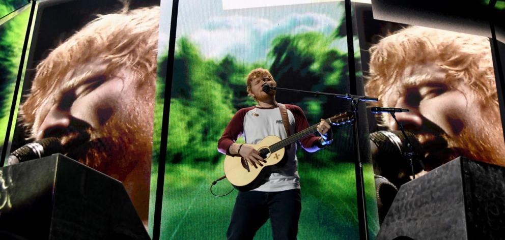 Ed Sheeran rocks Forsyth Barr Stadium. Photo: Craig Baxter