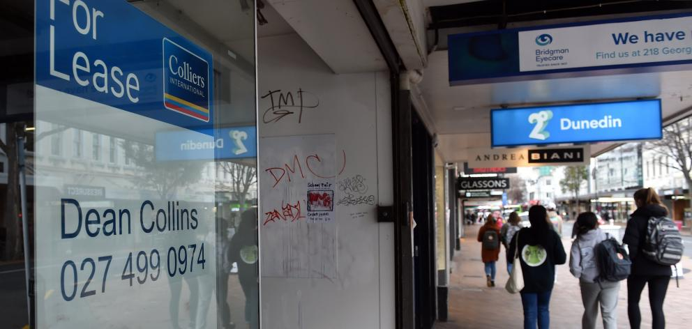 Occupancy of shops in George St, Dunedin, has remained unchanged in the last quarter for the...