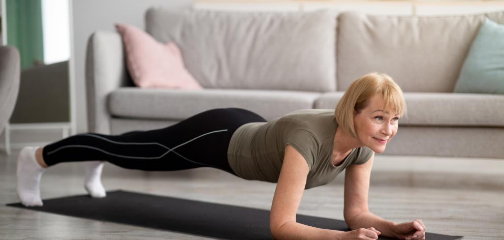 Planking is an ''equipment-free'' strengthening exercise that can be done at home.