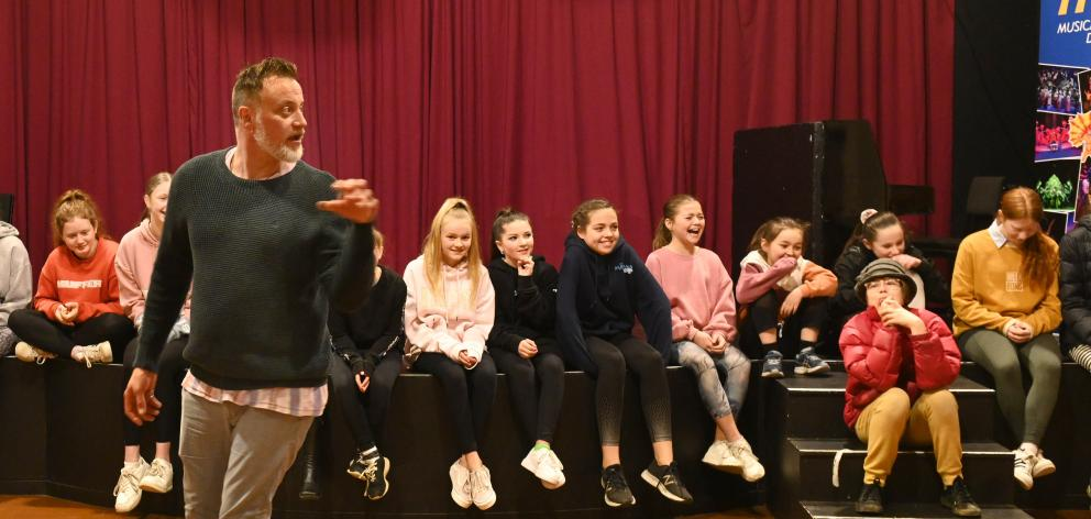 Actor Hayden Tee shares his acting expertise with young thespians at Musical Theatre Dunedin...