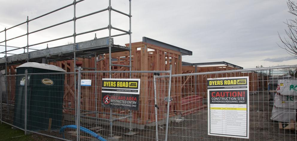 Seven two-storey units are being built at Amyes Rd. Photo: Geoff Sloan