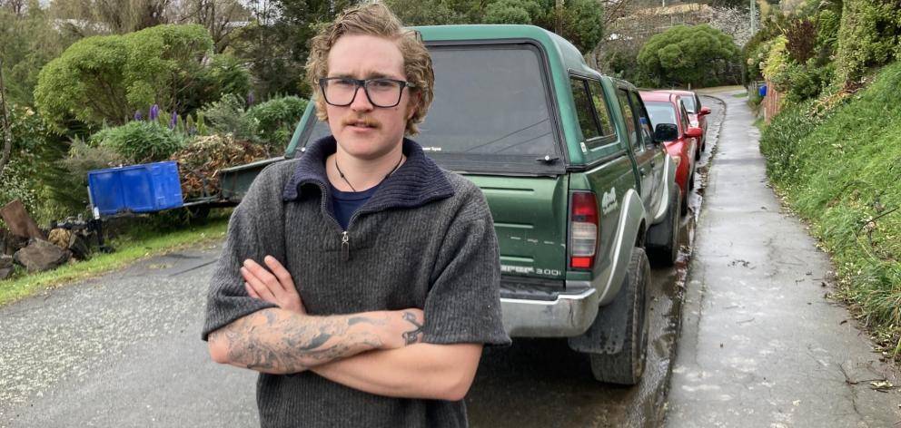Scott Halliwell chased the thief away before they could take anything out of his ute. Photo:...