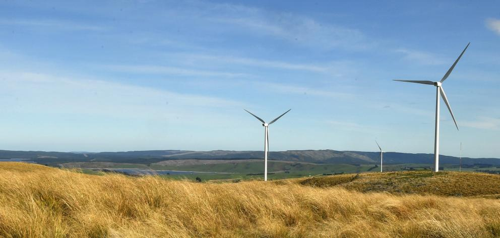The Mahinerangi Wind Farm on the north side of Lake Mahinerangi. The Climate Change Commission...