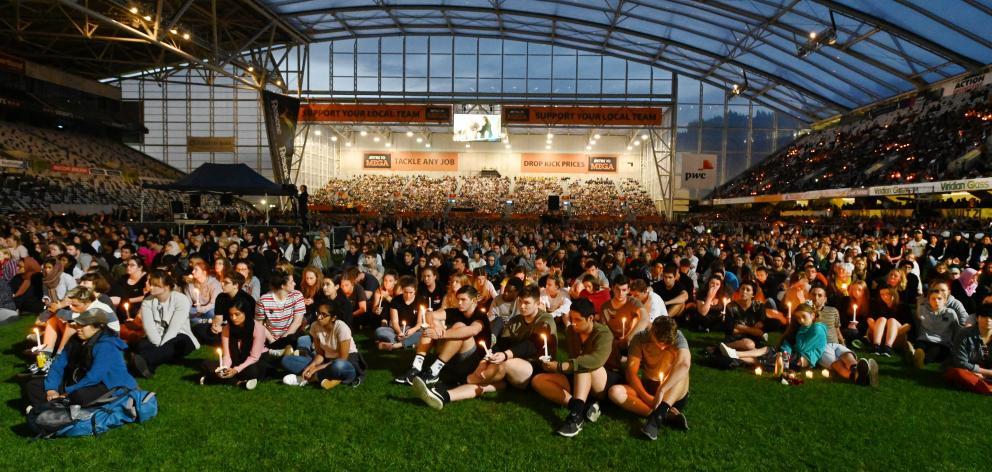 A crowd of around 18,000 gathered at Forsyth Barr Stadium in Dunedin last night. Photos: Gerard O'Brien