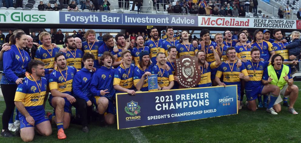 The Eels clasp the championship shield for the fifth time in a decade.