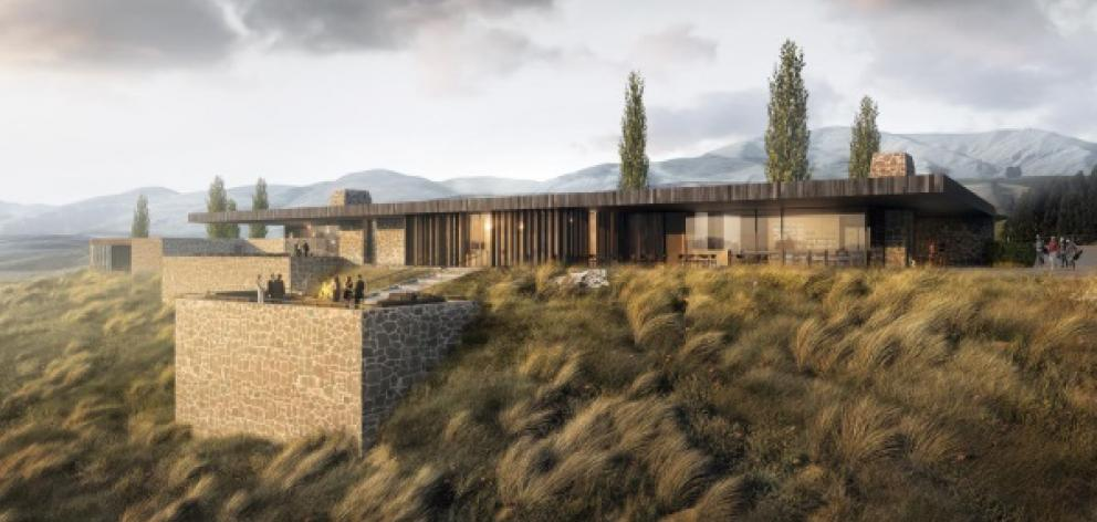 This low-slung clubhouse is part of the newly-approved Hogans Gully golf course resort. Photo: Supplied