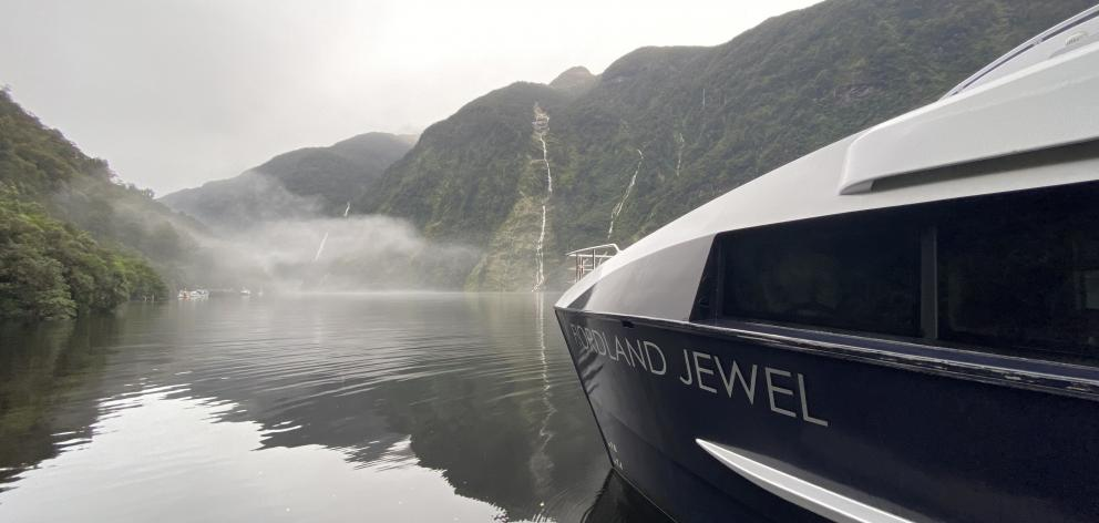 Fiordland Jewel is a 24m catamaran which takes passengers on overnight and multi-day cruises in...