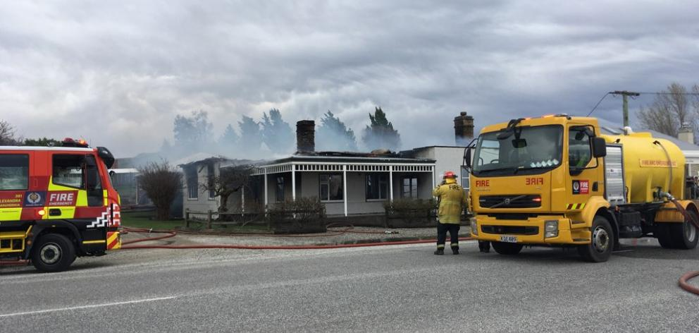 The blaze destroyed the historic Ophir building. Photo: Jared Morgan