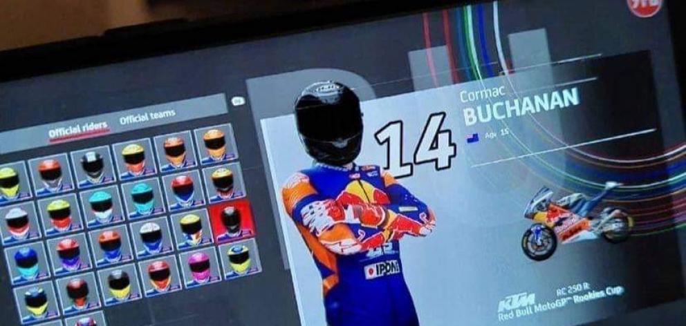 Buchanan features in the latest MotoGP video game.