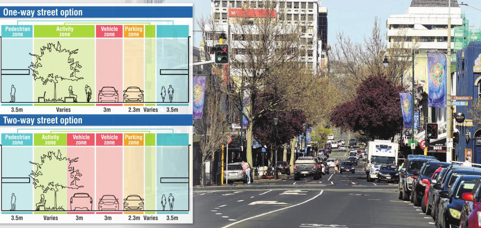 Concepts for the redevelopment of George St, Dunedin, would result in it being much-changed from...