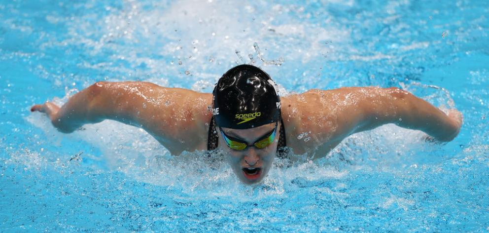 Pascoe began strongly in the butterfly and led until the last 25 metres of the race. Photo: Getty...