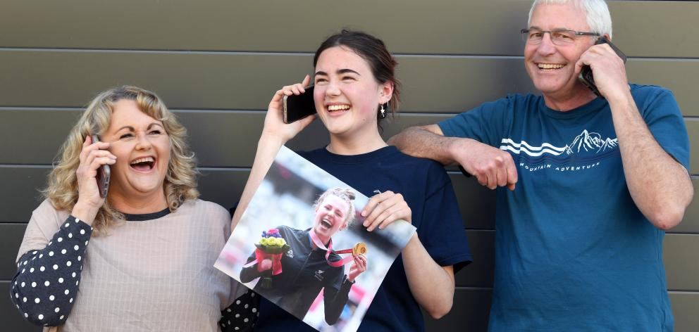 The family of Anna Grimaldi were constantly taking calls in Dunedin yesterday after she won a...