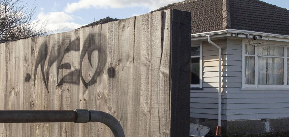 Graffiti on Northcote Rd. Photo: Geoff Sloan