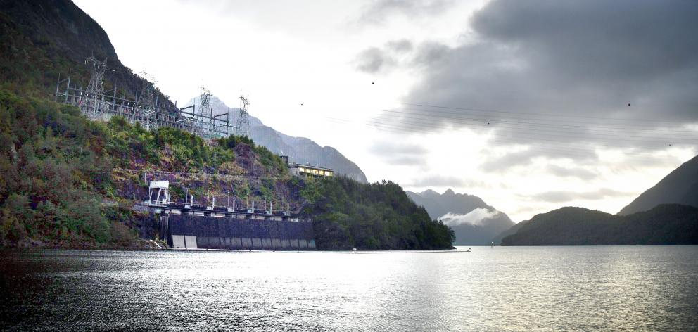 The Manapouri Power Station which produces power for the aluminium smelter at Tiwai Point and may...
