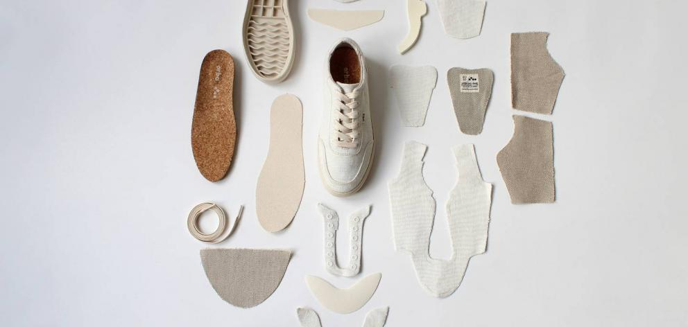Orba Ghost sneakers are made from 94 per cent plant-based, biodegradable materials. Photo: Supplied