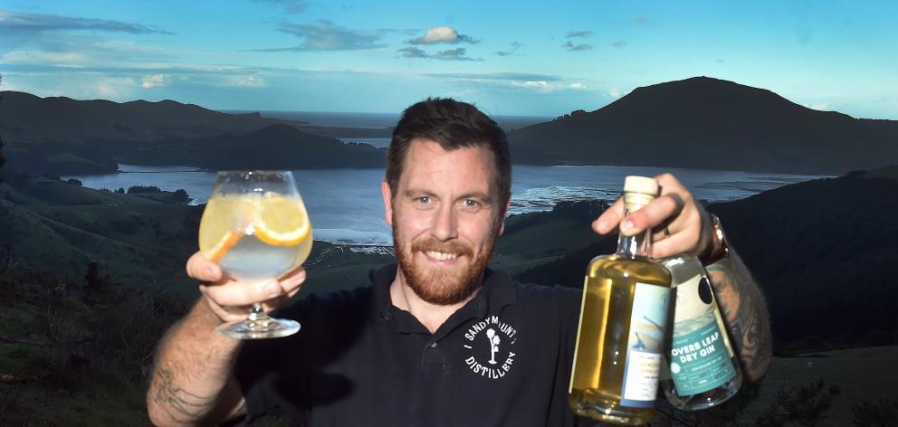 Sandymount Distillery founder Richard Wilson at home on Otago Peninsula. PHOTO: PETER MCINTOSH