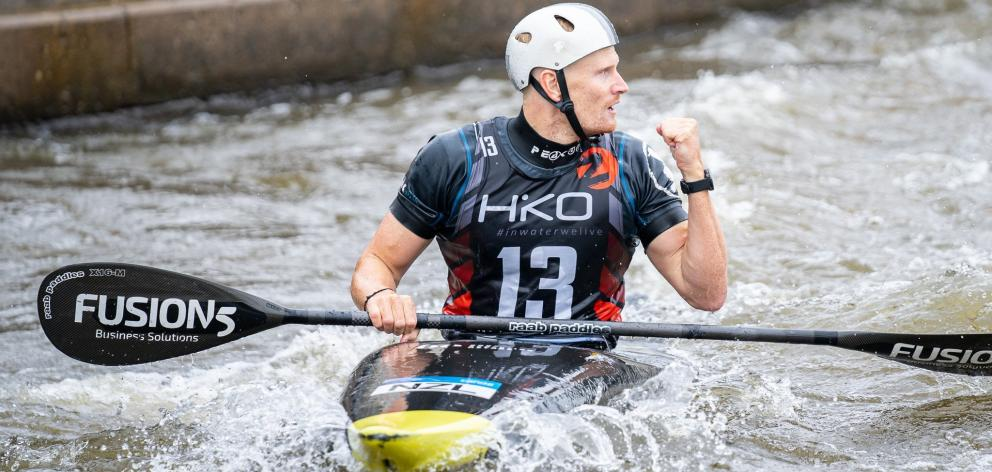 Otago canoe slalom competitor Finn Butcher in action in the Czech Republic. PHOTO: JAN HOMOLKA