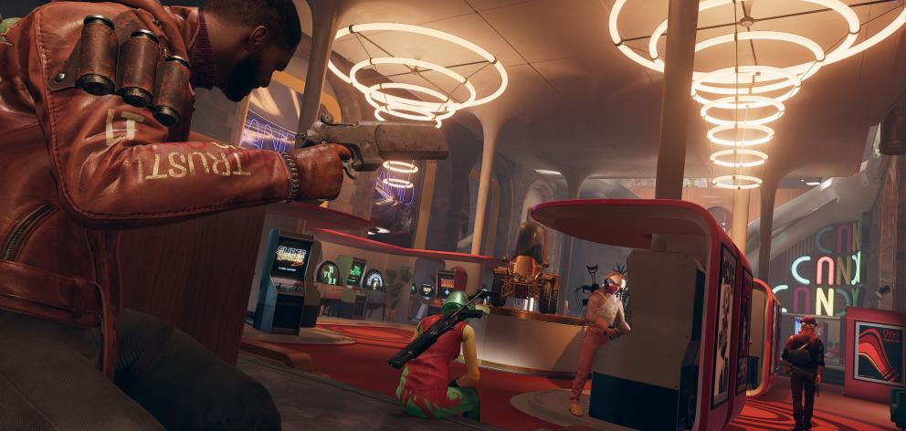 Colt sizes up another roomful of Eternalists to be overcome in Bethesda's new Deathloop. IMAGE:...