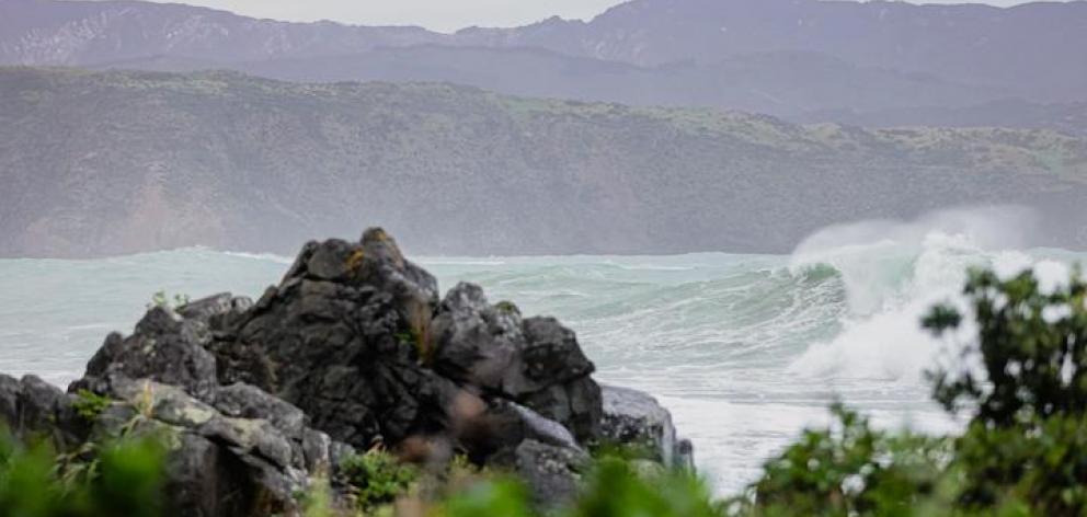 Wellington Harbour in stormy weather. Photo: RNZ / Dom Thomas