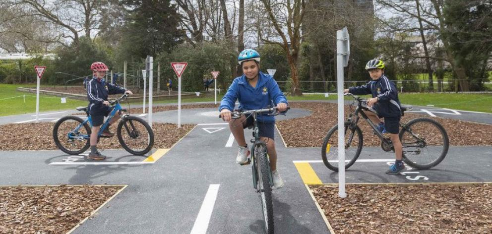 People can hone their cycling skills in a safe environment at Ilam School's new learn-to-ride...