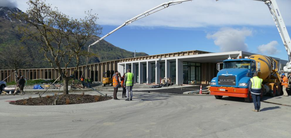 Despite challenges caused by various Covid lockdowns, the hospital, next to the Queenstown Country Club, was on track to be handed over before Christmas. Photo: Tracey Roxburgh