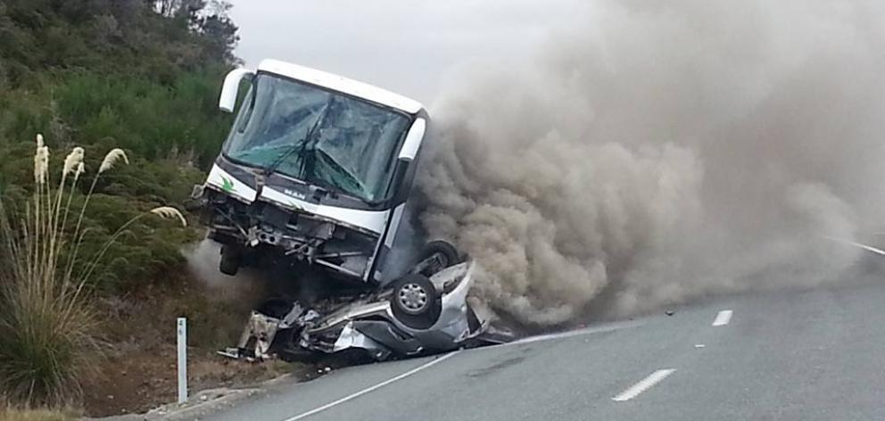 Two Thought Dead After Fiery Crash Otago Daily Times
