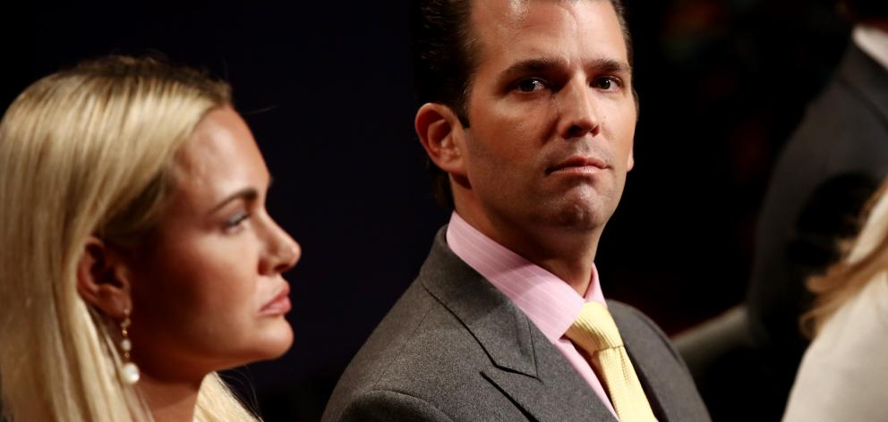Donald Trump Jr and his wife Vanessa Trump. Photo: Getty Images
