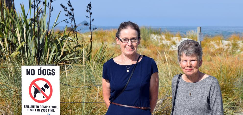 Protect our Wildlife group co-ordinators Daphne Wells (left) and Jill McInnes, both of Ocean View...