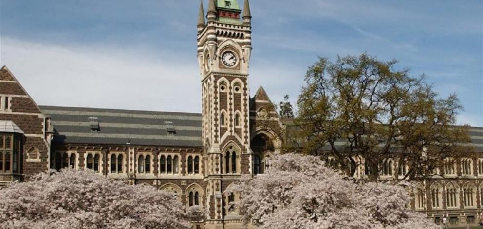 The University of Otago. Photo: ODT files
