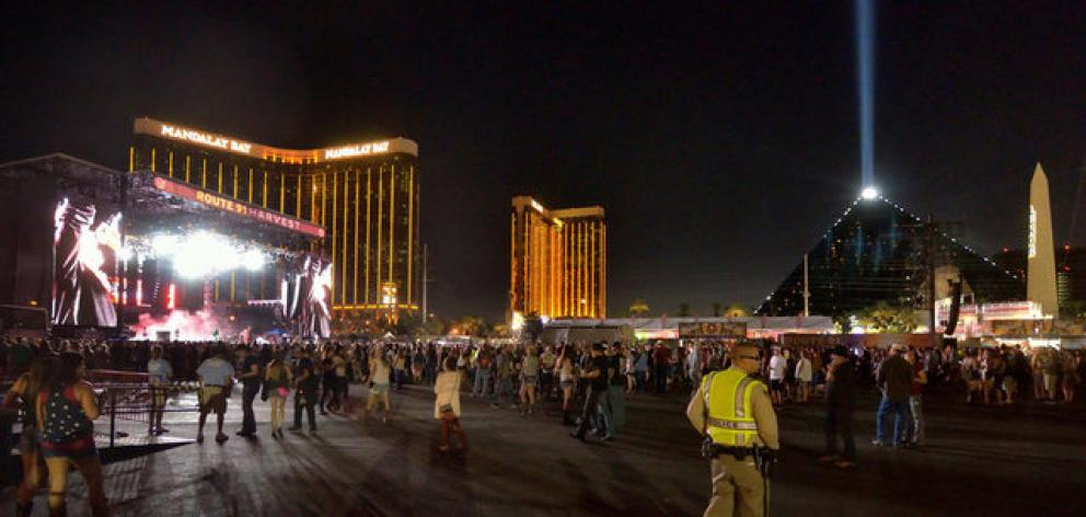 The grounds are shown at the Route 91 Harvest festival on Las Vegas. Photo: Reuters