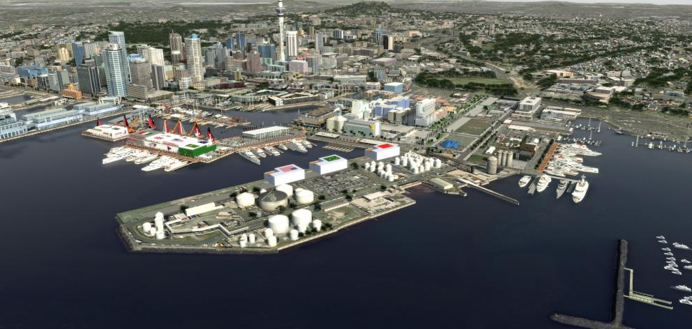 ARL have spent five days bringing together a video which shows what the waterfront would look like if the current preferred option was approved. Photo: Animation Research Limited