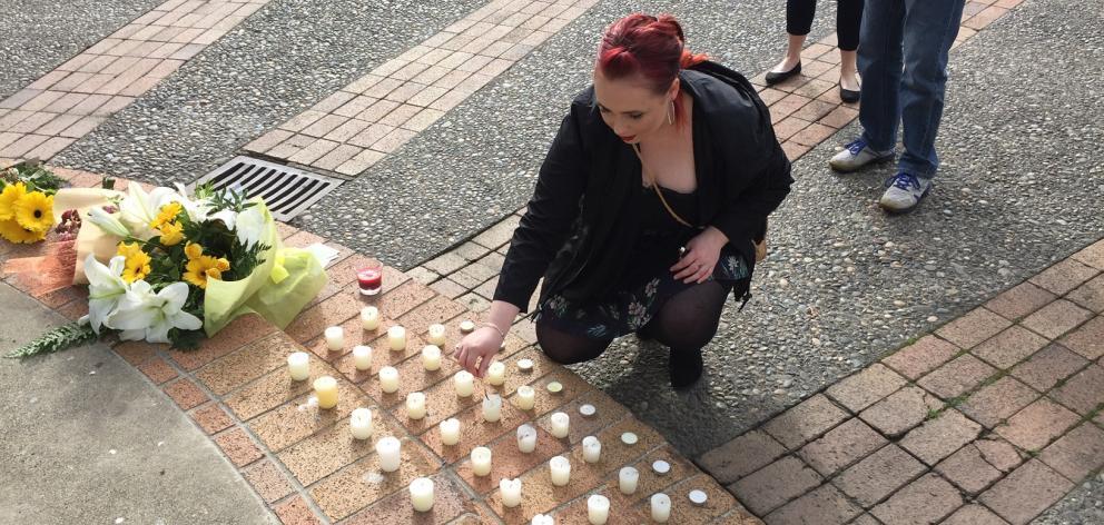Mckenzie Dawson organised the vigil on her Facebook page. Photo: Luisa Girao