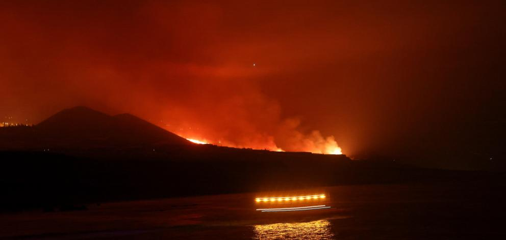 Lava has been flowing down the volcano's western flank toward the sea since September 19,...