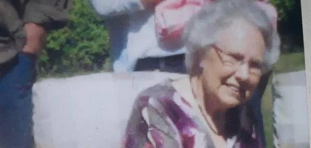 Kura Clark, who uses a walking frame, was reported missing last night. Photo: Supplied