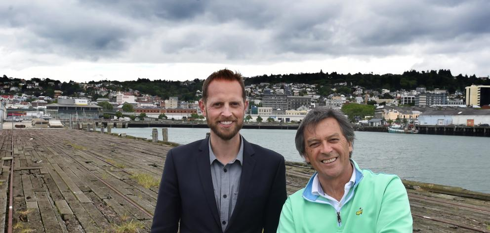 Damien van Brandenburg (left) and Ian Taylor at the site of the proposed wharf redevelopment....
