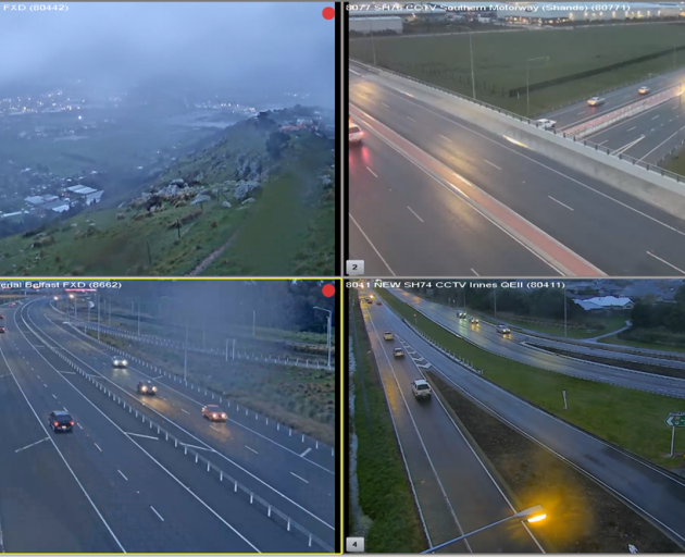 It has been a wet start to the day for commuters in Christchurch. Photo: NZTA
