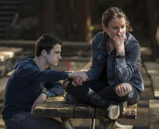 Dylan Minnette and Sosie Bacon appearing in 13 Reasons Why. Photo: supplied