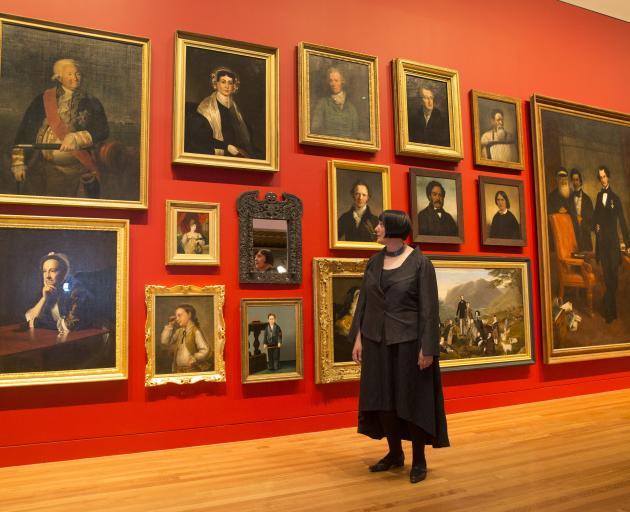 Te Papa head of art Charlotte Davy looks over the ''Turangawaewae Exhibition''. Photo: NZ Herald