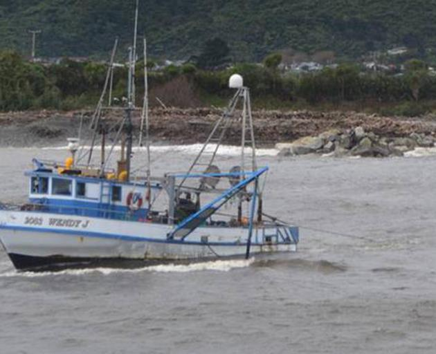 The Wendy J sank after getting into trouble off South Westland on Thursday night. Photo:...